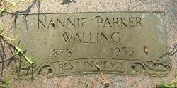 Nancy Ann Nannie <i>Parker</i> Walling