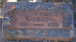 Florence Lucy <i>Williams</i> Ayers