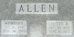 Nettie <i>Bridgers</i> Allen