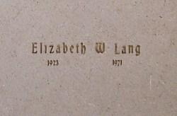 Elizabeth Dawn <i>Warner</i> Lang
