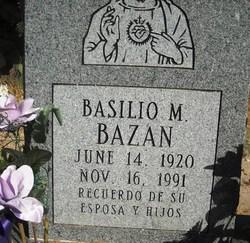 Basilio M Bazan