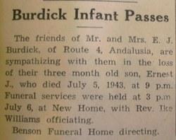 Ernest J. Burdick