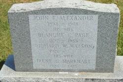 John Francis Alexander, Sr