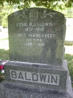 Libbie <i>Vanderveer Baldwin</i> Earing