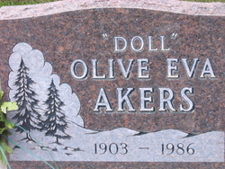 Olive Eva Doll <i>Cartwright</i> Akers