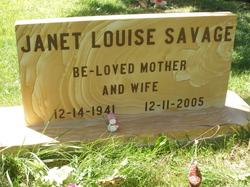 Janet Louise <i>Farnsworth</i> Savage