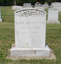Alyce <i>Graves</i> Cave