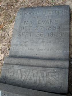 Savannah Elizabeth <i>Buffington</i> Evans