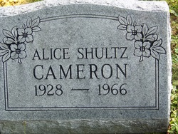 Alice <i>Shultz</i> Cameron