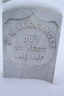 Pvt William K Alexander