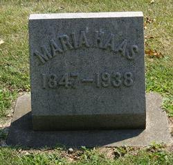 Maria <i>Hackleman</i> Haas
