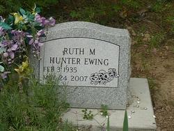 Ruth M <i>Hunter</i> Ewing