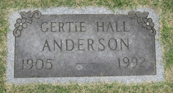 Gertie <i>Hall</i> Anderson