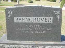 Elizabeth Lizzie <i>Butler</i> Barngrover
