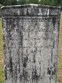 Mary Ann <i>Miller</i> Amaker