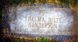Thelma Iza <i>Hilts</i> Henderson