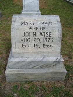 Mary <i>Ervin</i> Wise