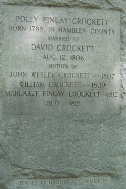 Mary Polly <i>Finley</i> Crockett