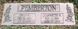 Jeannette Bruce <i>Alderson</i> Pemberton