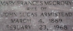 Mary Frances <i>McCrory</i> Armistead