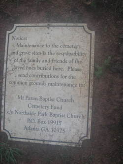 Mount Paran Baptist Church Cemetery