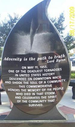 Waco Tornado Victims Memorial