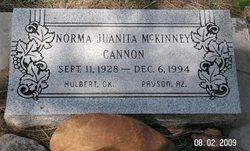 Norma Juanita <i>McKinney</i> Cannon