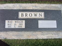 Mae <i>Welch</i> Brown