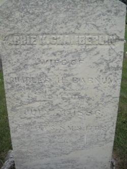 Abbie K <i>Chamberlin</i> Barnum