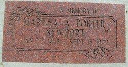 Martha A. <i>Porter</i> Newport