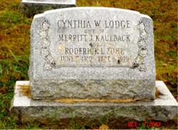 Cynthia W. <i>Lodge</i> Kaulback Zohe
