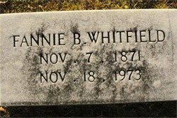 Frances Fannie <i>Barnes</i> Whitfield