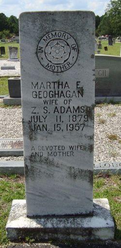Martha Elizabeth <i>Geoghagan</i> Adams