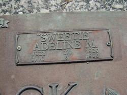 Adeline M. Sweetie <i>Hemby</i> Adcock