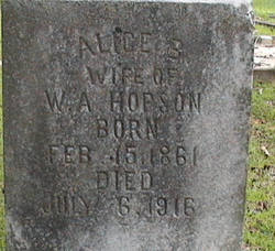 Alice <i>Wakefield</i> Hopson