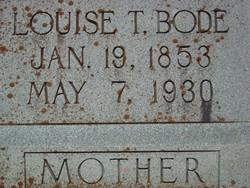 Louise Thedora <i>Hohmann</i> Bode