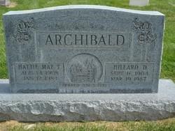 Hillard D Archibald