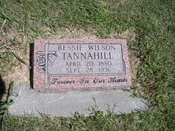 Bessie E. <i>Wilson</i> Tannahill