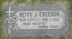 Betty J <i>Calkins</i> Creedon