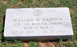 William Morris Maddox, Sr