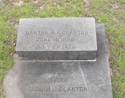 Martha Ann Amanda <i>Hudson</i> Clanton