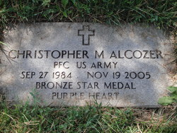 Pvt Christopher Michael Alcozer