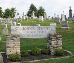 Saint Johns Cemetery of Howard County