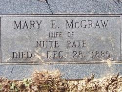 Mary E. <i>McGraw</i> Pate