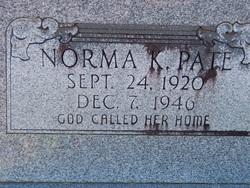 Norma K. <i>Woodard</i> Pate