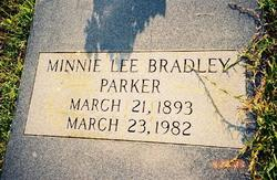 Minnie Lee <i>Bradley</i> Parker