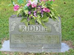 Susanna Katherine Susie <i>Owsley</i> Riddle