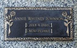 Annie <i>Whitney</i> Johnson