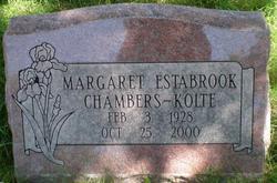 Margaret <i>Estabrook</i> Chambers-Kolte