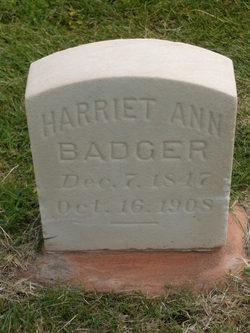 Harriet Ann Whitaker <i>Taylor</i> Badger